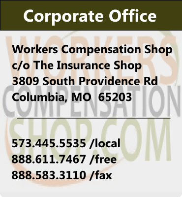 Workers Compenhsation Shop contact information